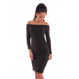 Jacky Luxury off-shouder dress in zwart