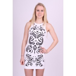 Actie: Lipsy London mini dress in wit met zwart.