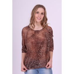 Benedikte Utzon top in leopard print