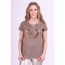 Goldbergh shirt in copper met gouden print
