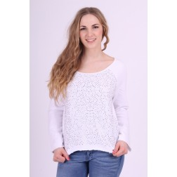 Gaudi sweater in white met strass