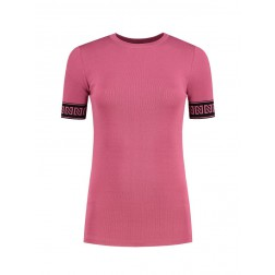 Nikkie Jolie top - Branded in sunset pink