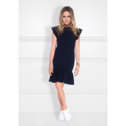 Nikkie Janai dress met ruchemouw - navy