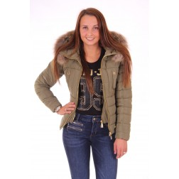 Nickelson winterjas Naomi in olive