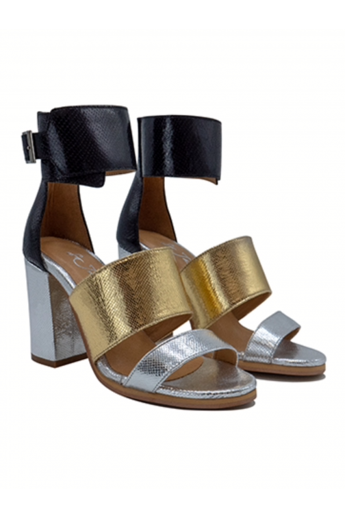 So Jamie Date-night hakken in gold-silver