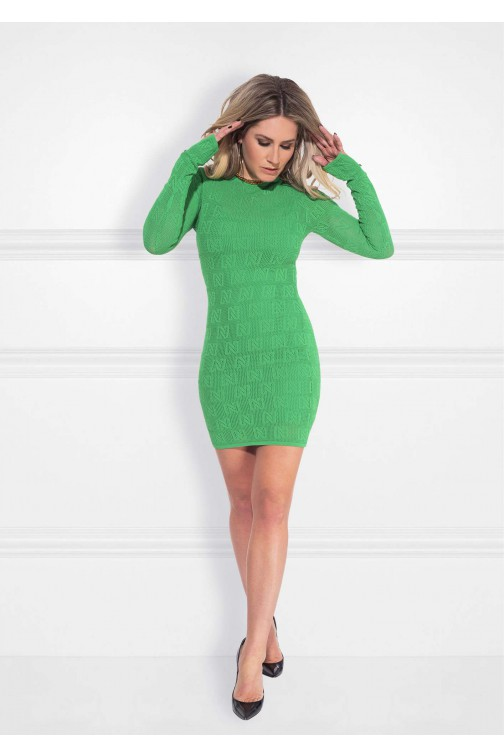 Nikkie Khloe dress N logo in jade