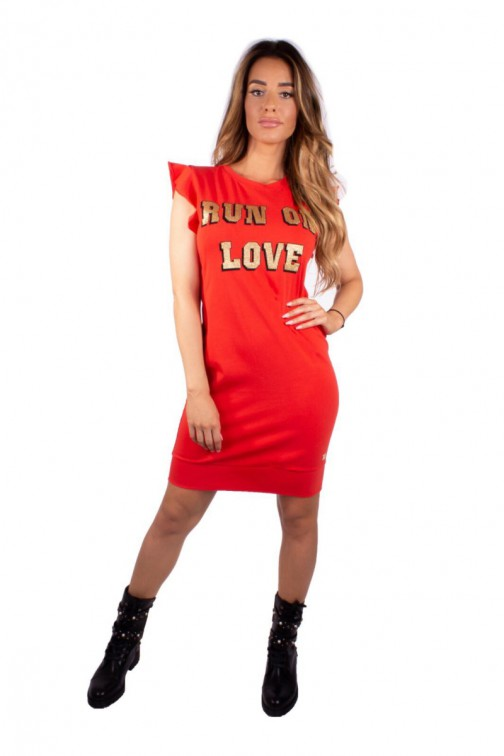 Royal Temptation t-shirt dress in rood