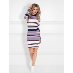 Nikkie Pascal dress in sky blue stripe