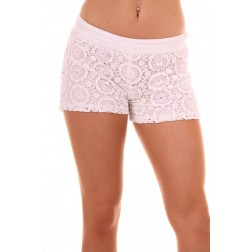 Jacky Luxury short in wit: Crochet
