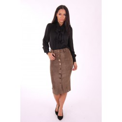 Jacky Luxury suede rok in army